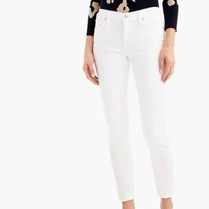 "J crew white 8"" ankle jeans"